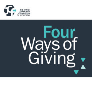 Four Ways of Giving - Jewish Philanthropy Gift Planning Tax Advice Charity